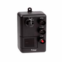Pulsar Wall Mount Three Button Transmitter - Open/Close/Stop (3 Doors) with Dial