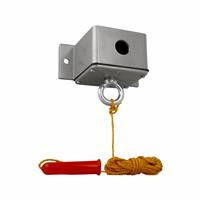 NEMA 4 Exterior Ceiling Pull Switch with Heater